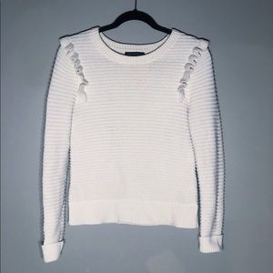 Banana Republic Knit Ruffle Pullover Sweater